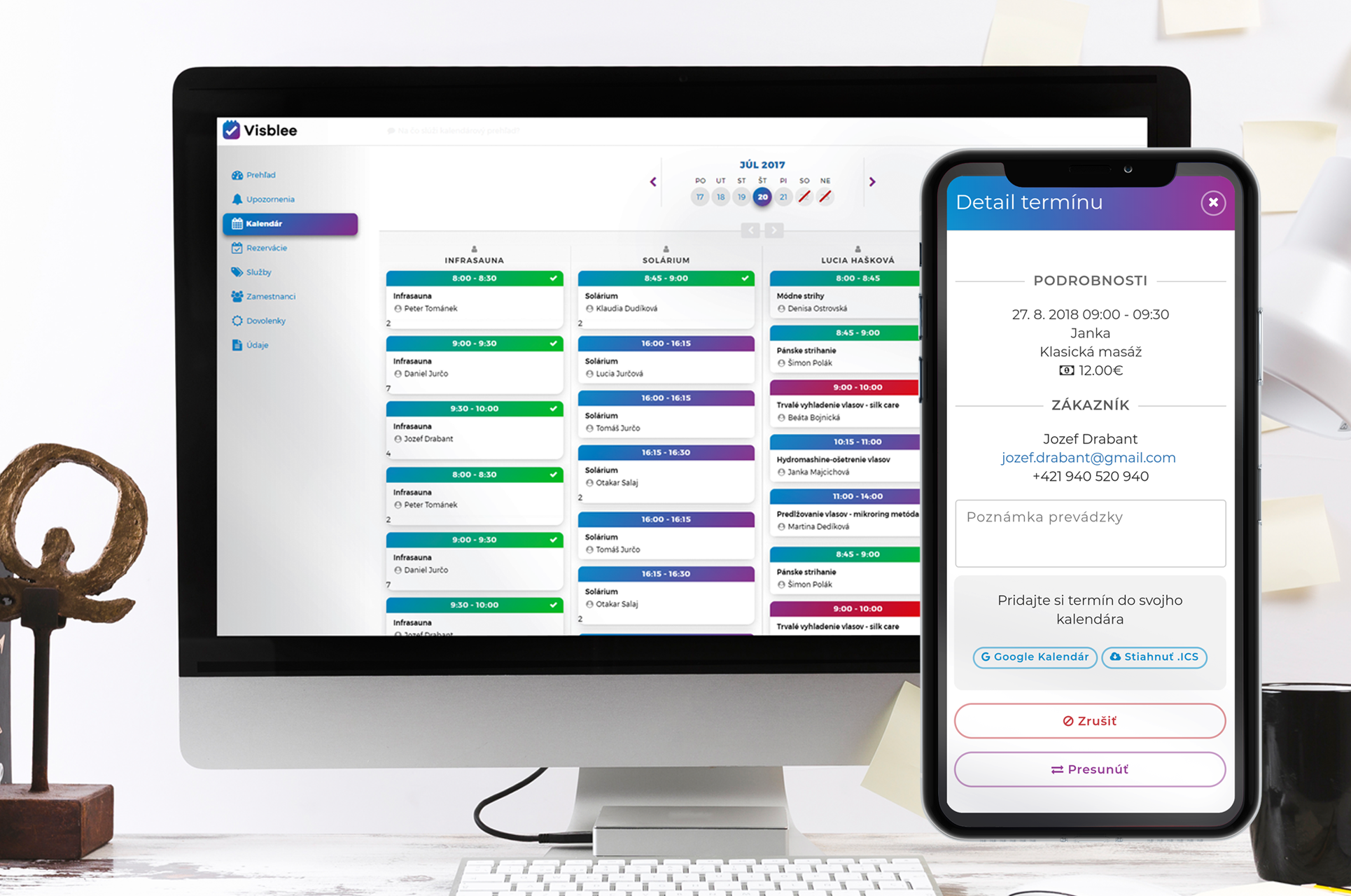 #2 Visblee Features: Uložte si termíny vašich zákazníkov do svojho kalendára